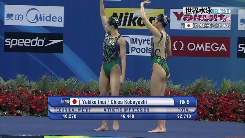 2011世界水泳シンクロデュエットフリー決勝66