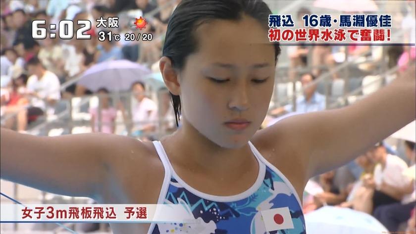 2011世界水泳 女子飛板飛込3M予選・準決勝2