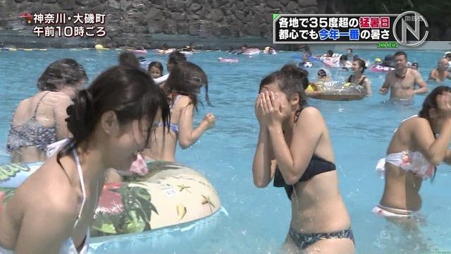 夏だプール最高 水着美女  Nスタ スピーク おはよん にじいろジーン