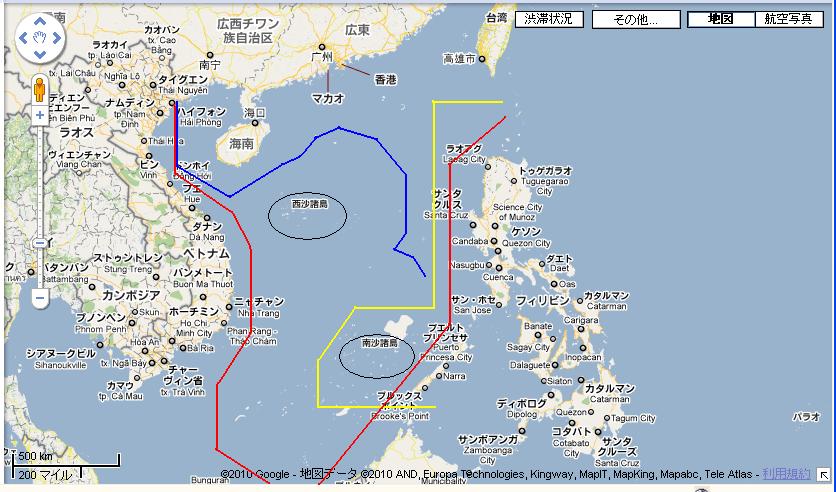 無料 アジア 白地図 無料 : 中国が領海だと主張している ...