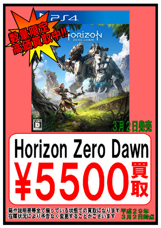 【2日】Horizon Zero Dawn