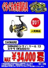SHIMANO(シマノ) リール 13 ステラ SW5000XG 単品告知