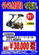 SHIMANO(シマノ) リール 14 ステラ 4000HG  単品告知