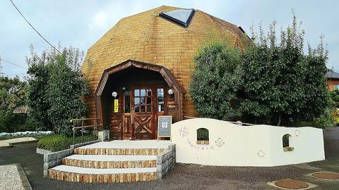 江南にあるドーム状造りのカフェでモーニング/cafe Leef Green