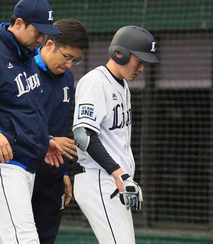 西武、源田が「右手関節挫傷」 出場は様子を見て判断