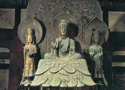 (中)釈迦三尊像 (法隆寺)
