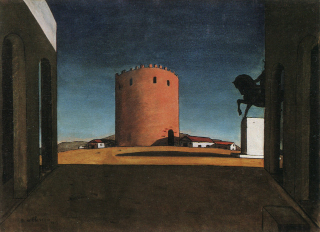 The_Red_Tower_by_Giorgio_de_Chirico