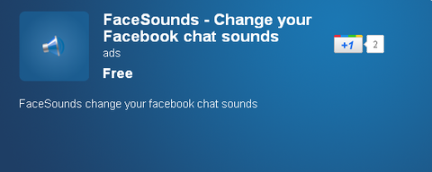 FaceSounds - Change your Facebook chat sounds - Chrome Web Store
