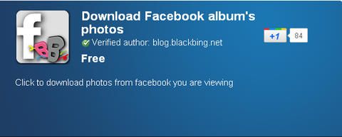 Download Facebook album's photos - Chrome Web Store