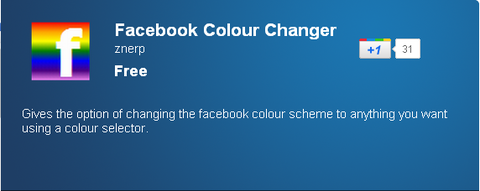 Chromeエクステンション/Facebook Colour Changer - Chrome Web Store
