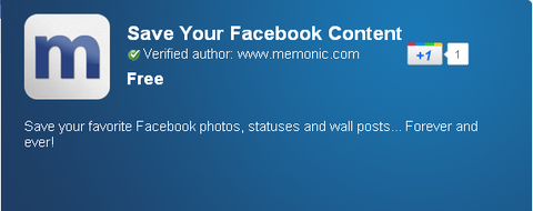 Save Your Facebook Content - Chrome Web Store