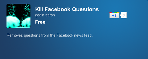 Kill Facebook Questions - Chrome Web Store