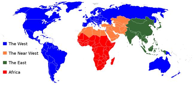 日本「世界を4つに区分した地図があるけどどれくらい正確なの?」