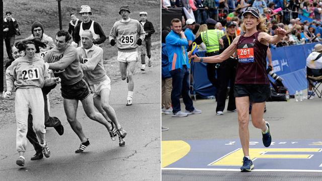 外国人「50年前ボストンマラソンで妨害を受けた女性ランナーが再び完走した!」【海外の反応】