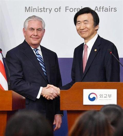 【米韓外相会談】そもそも韓国は夕食会に招かなかった… ティラーソン氏が明かす「体調不良説」に対して