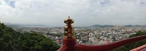仏殿より和歌浦湾を望む