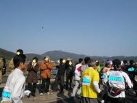8桂川沿いも熱い応援