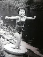 子供の頃:上林の川