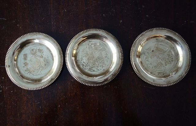 真鍮エジプト柄の小プレート (2)