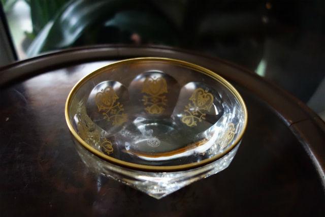 バカラ金彩入り小鉢 (4)