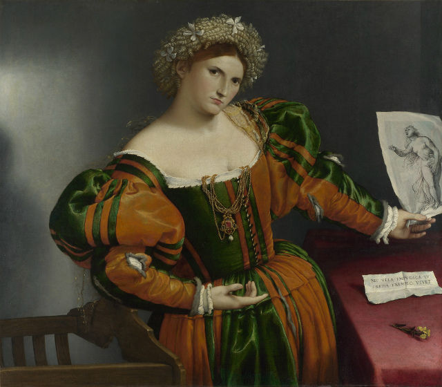 portrait of a woman inspired by Lucretia1530
