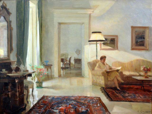Inside the evening (1962). Francesco Galante (Italian, 1884-1972