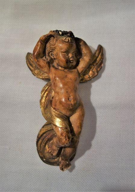 花輪を持つ天使像 (3)