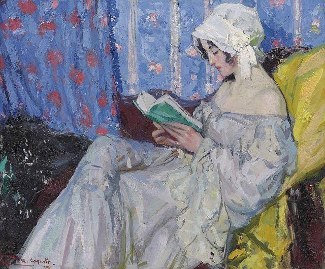 La Liseuse. Ulisse Caputo (Italian, 1872-1948