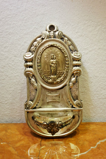 メタルピラール聖母聖水盤 (2)