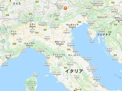 イタリアでの位置
