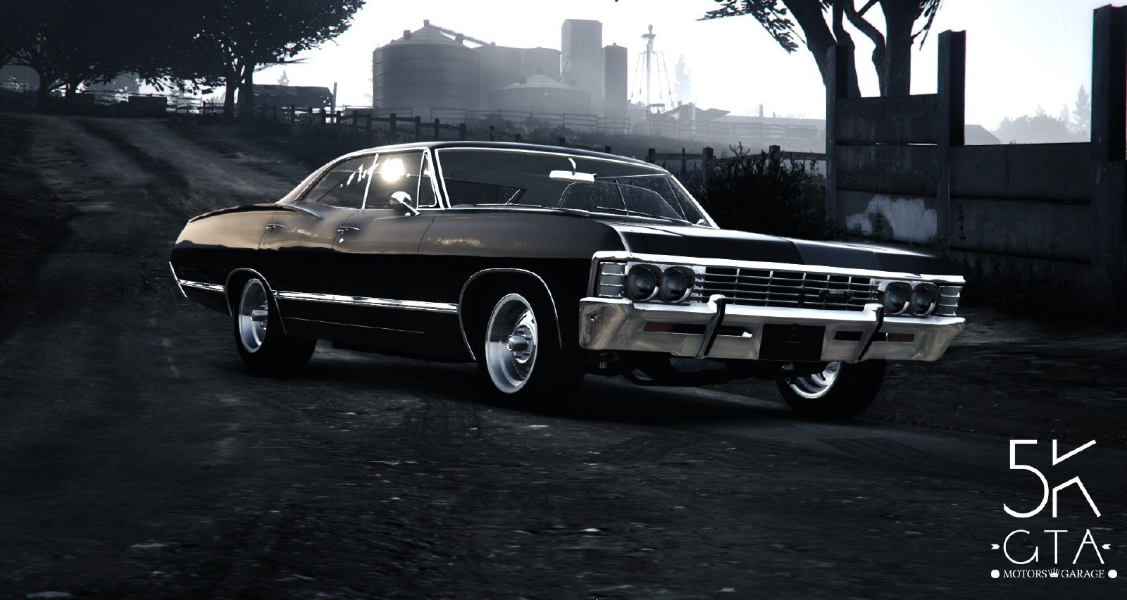 【gta5 Pc版】実車mod「シボレー・インパラ 1967年式」登場!【スーパーナチュラル仕様】 グランド