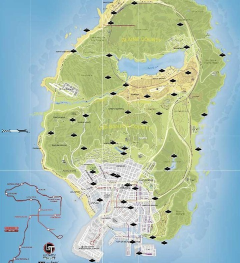 GTA 5 Spaceship Parts Location Map