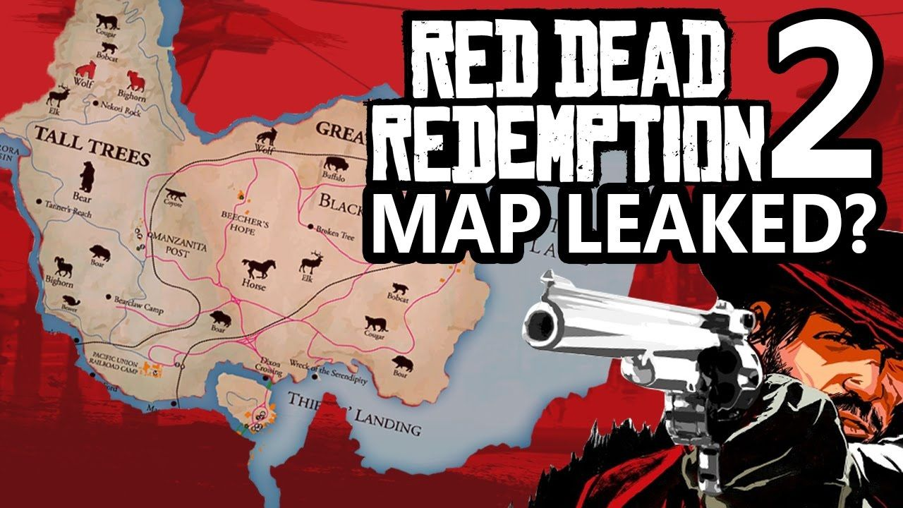 噂 『Red Dead Redemption 2』のマップ画面が海外フォーラムに投稿