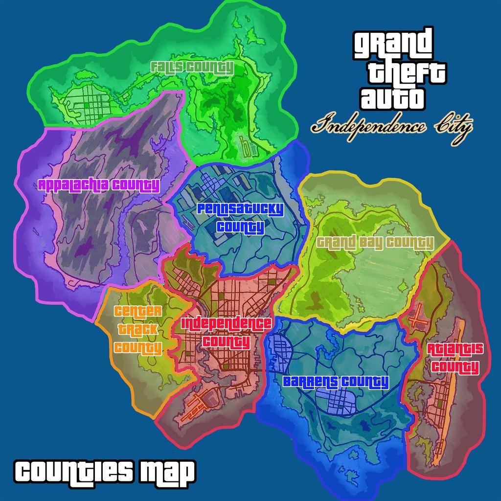 【画像あり】次回作『GTA6』の「インデペンデンスシティ」マップ構想公開! : グランド・セフト・オート5写真大好き