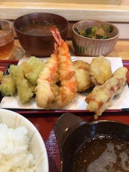 てんぷらやさん 天ぷら定食 850円