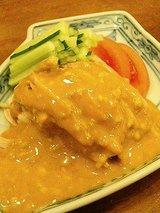 美齢 蒸し鶏の胡麻ソース(900円)