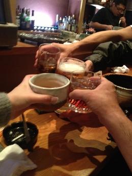 南石 乾杯
