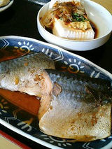 鯖の煮込み(300円)、冷奴(100円)