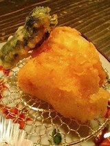 旬門 筍と海老博多揚げ