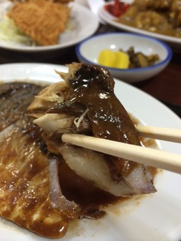 長野屋 さば煮定食 700円 (1)