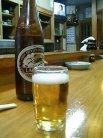 やっぱビールですな