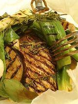 鯛とホタテと野菜のグリル香草風味ソース