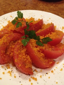シンバル カラスミトマト