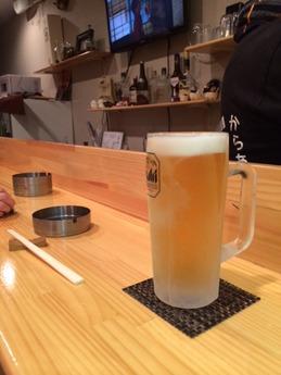 カラアゲぼっくり ビール