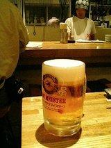 くし・にしやん 生ビール