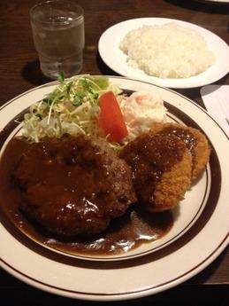 サンフローラ ハンバーグステーキとクリームコロッケ 980円