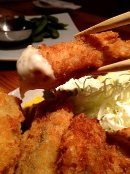 たぬき 牡蠣フライ