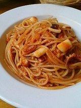 ダウーゴ ヤリイカのトマトスパゲッティ
