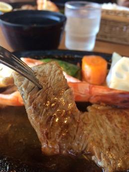 かもめ屋 ロースC定食 海老1尾付き 2550円 (2)