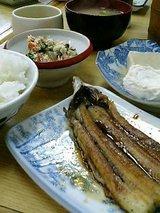 姫路中央卸売市場 新竹三楽 鰻、中めし、高野、白和え、味噌汁